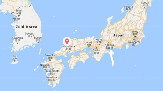 kaart Japan floods