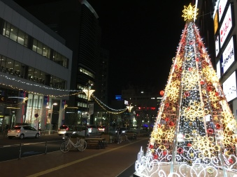 (Some of the) Christmas decoration in the streets of Toyota city.