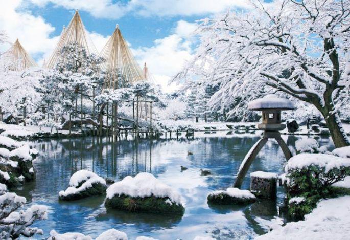 Winter in Japan. Kanazawa