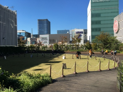 Tokyo Ginza mall rooftop garden
