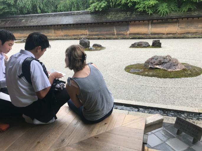 Rock zen garden Kyoto